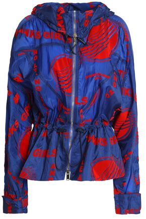 STELLA McCARTNEY Printed shell hooded jacket