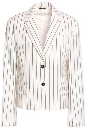 JIL SANDER Pinstriped wool-blend twill blazer