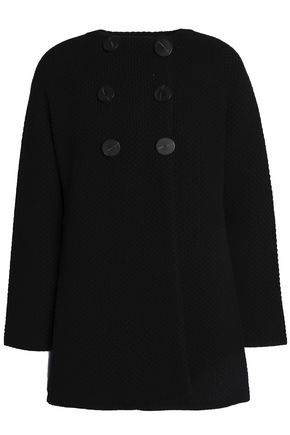 GOAT Double-breasted crochet-knit wool-blend coat
