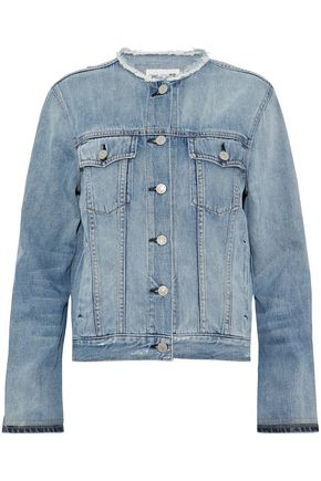 RAG & BONE/JEAN Frayed denim jacket