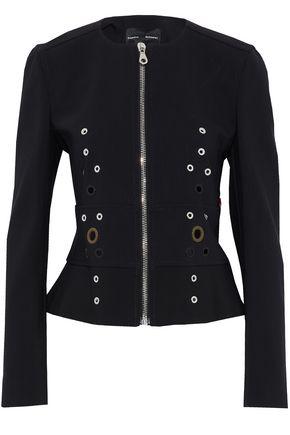 PROENZA SCHOULER Eyelet-embellished cotton-blend crepe jacket