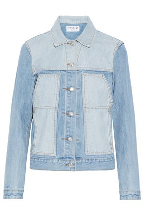 WOMAN PATCHWORK DENIM JACKET LIGHT DENIM