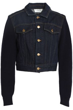WOMAN CROPPED DENIM JACKET DARK DENIM