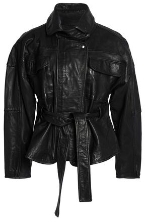 MARISSA WEBB Belted leather jacket