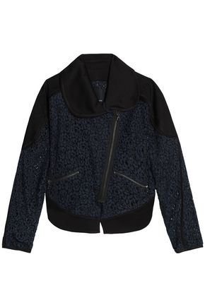 MARISSA WEBB Crepe-paneled corded lace jacket