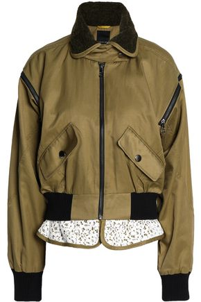 MARISSA WEBB Corded lace-trimmed twill bomber jacket