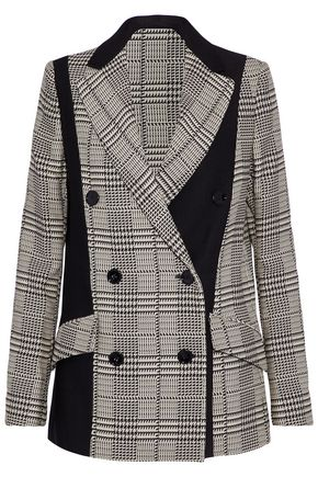 PROENZA SCHOULER Double-breasted paneled houndstooth cady blazer