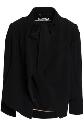 CHLOÉ Draped crepe cropped jacket