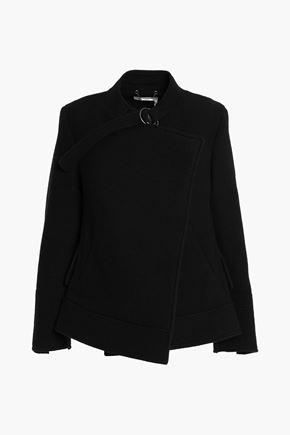 CHLOÉ Wrap-effect wool and angora-blend coat