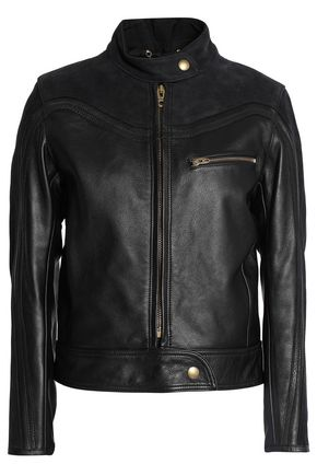 CHLOÉ Textured-leather biker jacket