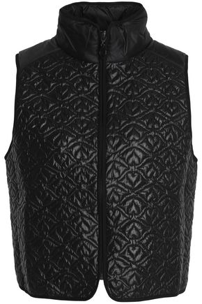 SEE BY CHLOÉ Paneled quilted shell vest
