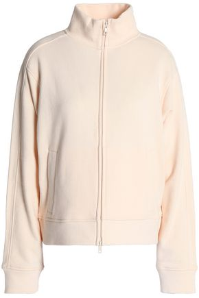 VINCE. Cotton-terry turtleneck jacket