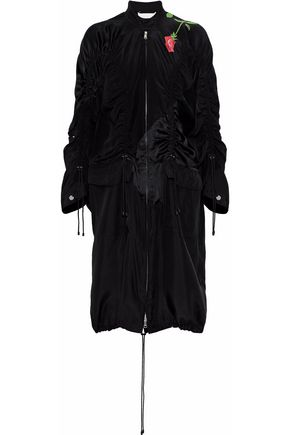 3.1 PHILLIP LIM Ruched printed silk crepe de chine jacket
