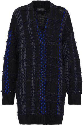 RAG & BONE Woven-embellished wool-blend cardigan