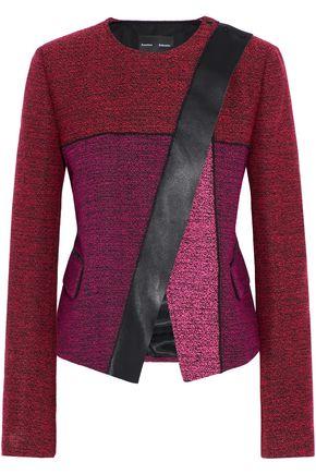 PROENZA SCHOULER Leather-trimmed tweed jacket