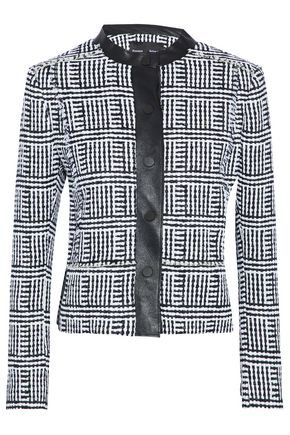 PROENZA SCHOULER Faux leather-trimmed tweed jacket