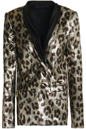 HAIDER ACKERMANN Double-breasted metallic leopard-print silk-blend blazer