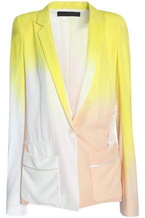 HAIDER ACKERMANN Appliquéd dégradé silk-twill blazer