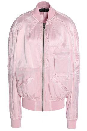 HAIDER ACKERMANN Twill-paneled satin bomber jacket