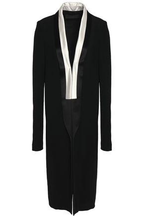 HAIDER ACKERMANN Satin-trimmed crepe coat