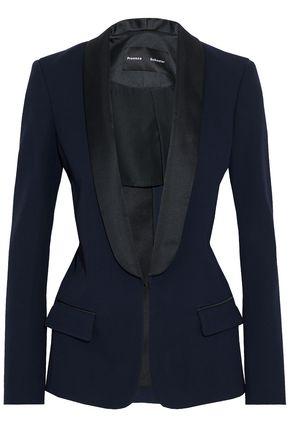 PROENZA SCHOULER Satin-trimmed crepe blazer