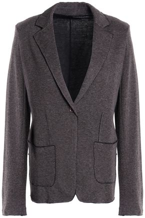 MAJESTIC FILATURES Frayed cotton and cashmere-blend jacket