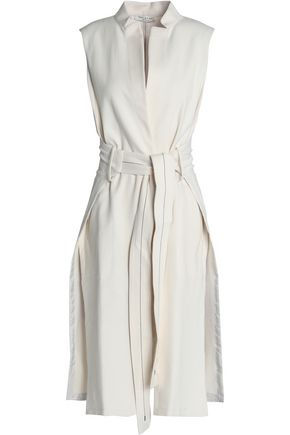 Belted Cotton Blend Voile Vest by Halston Heritage