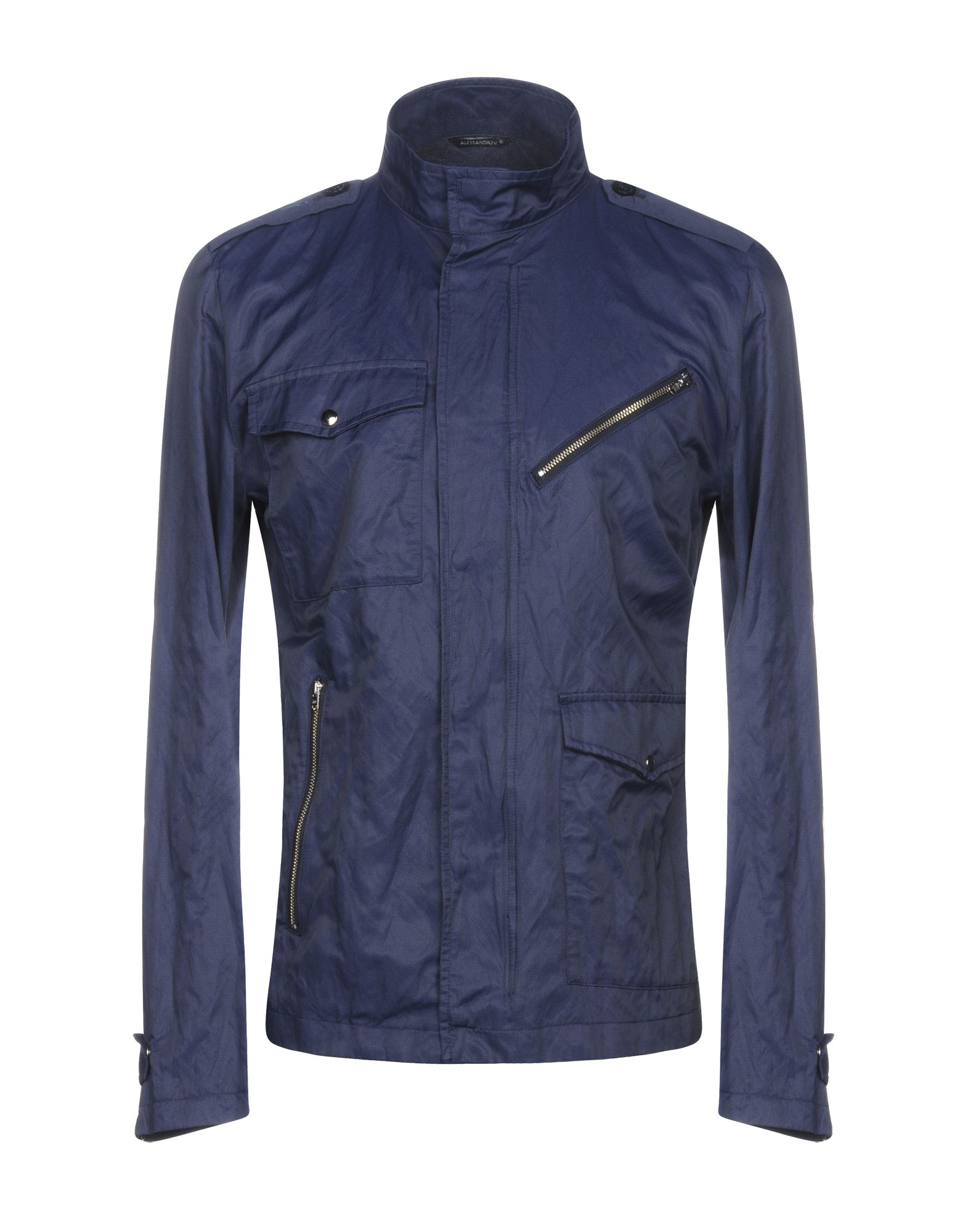 GREY DANIELE ALESSANDRINI Jackets in Dark Blue