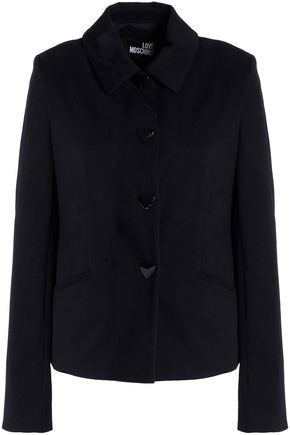 LOVE MOSCHINO Embellished cotton-blend gabardine jacket