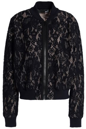 LOVE MOSCHINO Lace bomber jacket