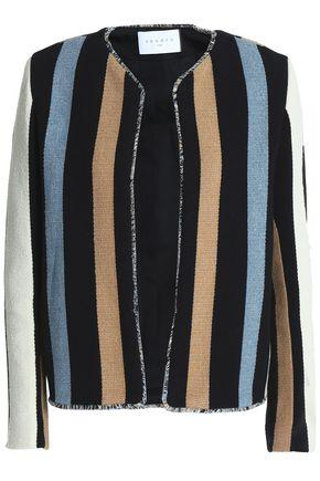 SANDRO Paris Striped cotton-blend jacquard jacket