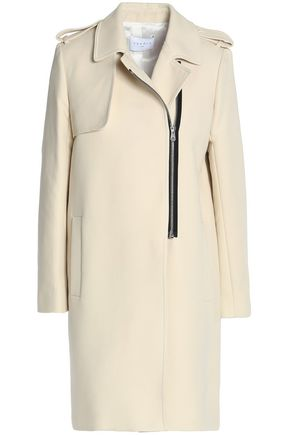 SANDRO Paris Cotton-blend twill coat