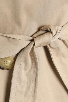 SANDRO Double-breasted cotton-gabardine trench coat