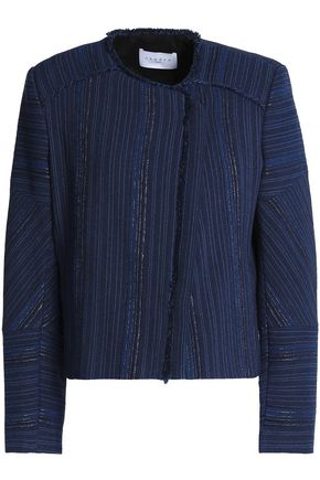 SANDRO Paris Frayed jacquard jacket