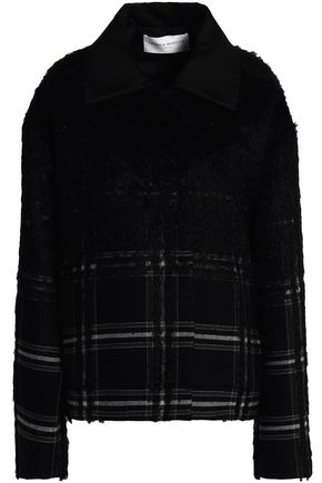 AMANDA WAKELEY Checked wool-blend jacket