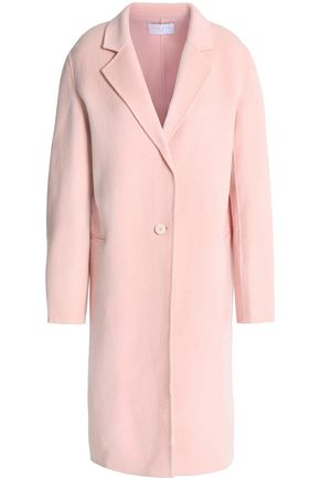 SANDRO Brushed wool-blend coat