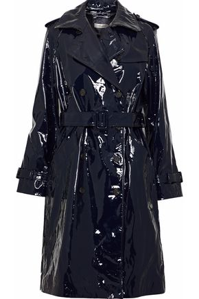 DIANE VON FURSTENBERG Patent-leather trench coat