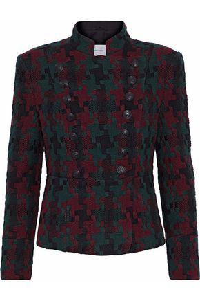 PIERRE BALMAIN Double-breasted wool-blend jacquard jacket