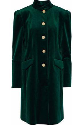 PIERRE BALMAIN Button-detailed cotton-blend velvet coat
