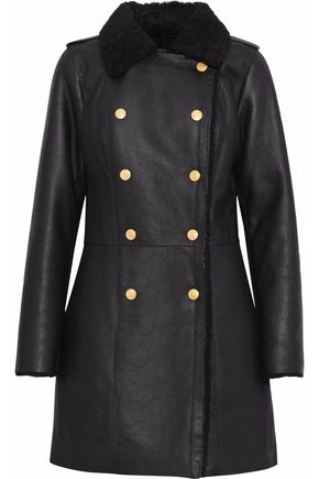PIERRE BALMAIN Double-breasted shearling coat