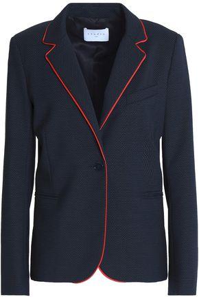SANDRO Printed twill blazer