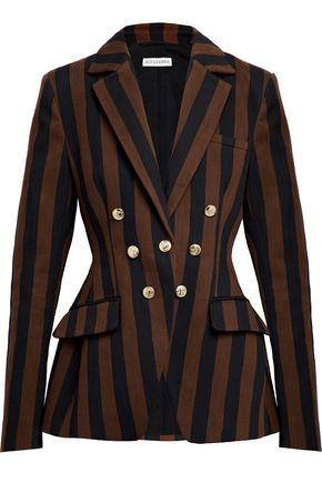 ALTUZARRA Double-breasted striped woven blazer