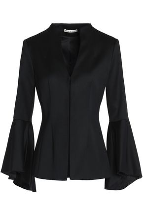 ALICE+OLIVIA Bell-sleeved wool-blend blazer