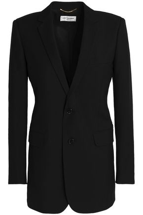 SAINT LAURENT Embellished wool-twill blazer