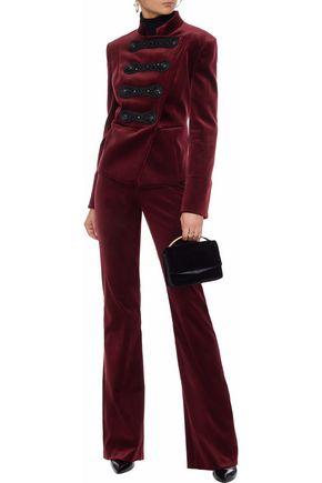 b7ad16cf PIERRE BALMAIN Double-breasted embellished cotton-blend velvet jacket