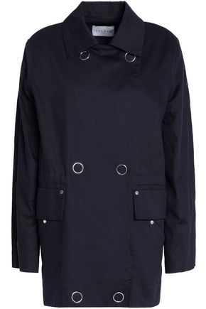 SANDRO_XX Double-breasted cotton-gabardine jacket