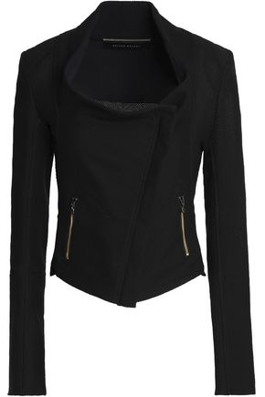 ROLAND MOURET Cropped cotton-blend piqué jacket