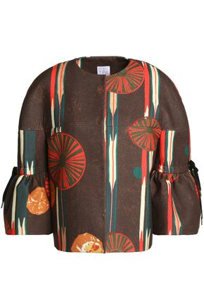 STELLA JEAN Printed felt jacket