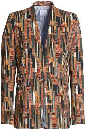 STELLA JEAN Printed stretch-cotton blazer