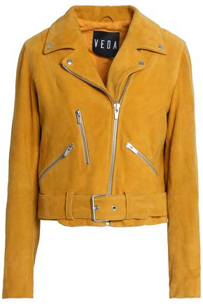 VEDA Gemini suede biker jacket